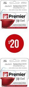 Gift card: $20.00